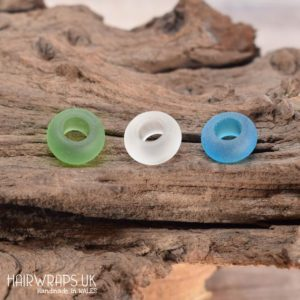 Shop Beads With Large Holes! Loc Beads, Dread Beads, Set Of Frosted Glass Beads, Beads For Dreads, Dreadlock Bead Set, Large Hole Hair Beads, Large Hole Seaglass Beads | Shop jewelry making and beading supplies, tools & findings for DIY jewelry making and crafts. #jewelrymaking #diyjewelry #jewelrycrafts #jewelrysupplies #beading #affiliate #ad