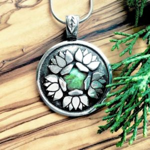 Shop Diopside Pendants! Lotus Flower Heal this Woman Pendant Necklace with Diopside for Balancing, Empowerment, Enhances Self-Love, and Emotional Well-Being | Natural genuine Diopside pendants. Buy crystal jewelry, handmade handcrafted artisan jewelry for women.  Unique handmade gift ideas. #jewelry #beadedpendants #beadedjewelry #gift #shopping #handmadejewelry #fashion #style #product #pendants #affiliate #ad