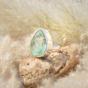 Shop Fluorite Rings! Lovely Green Fluorite Ring, Fluorite Ring, Womens Rings, 925 Sterling Silver,Green Ring, Rings For Women, Gifts, Christmas Sale | Natural genuine Fluorite rings, simple unique handcrafted gemstone rings. #rings #jewelry #shopping #gift #handmade #fashion #style #affiliate #ad