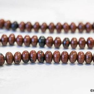 Shop Obsidian Rondelle Beads! M/ Mahogany Obsidian 9mm/ 8mm/ 4mm Rondelle Beads 15.5 inches long Brown Color Gemstone Spacer Beads For Crafts, And DIY Jewelry Making | Natural genuine rondelle Obsidian beads for beading and jewelry making.  #jewelry #beads #beadedjewelry #diyjewelry #jewelrymaking #beadstore #beading #affiliate #ad