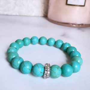 Shop Magnesite Bracelets! Magnesite bracelet | Natural genuine Magnesite bracelets. Buy crystal jewelry, handmade handcrafted artisan jewelry for women.  Unique handmade gift ideas. #jewelry #beadedbracelets #beadedjewelry #gift #shopping #handmadejewelry #fashion #style #product #bracelets #affiliate #ad