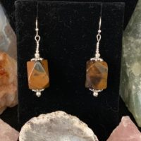Mahogany Obsidian Earrings | Natural genuine Gemstone jewelry. Buy crystal jewelry, handmade handcrafted artisan jewelry for women.  Unique handmade gift ideas. #jewelry #beadedjewelry #beadedjewelry #gift #shopping #handmadejewelry #fashion #style #product #jewelry #affiliate #ad