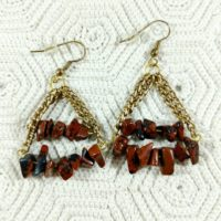 Mahogany Obsidian, Gemstone Chip Earrings   Natural genuine Gemstone jewelry. Buy crystal jewelry, handmade handcrafted artisan jewelry for women.  Unique handmade gift ideas. #jewelry #beadedjewelry #beadedjewelry #gift #shopping #handmadejewelry #fashion #style #product #jewelry #affiliate #ad