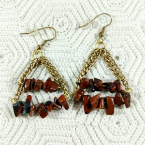 Shop Mahogany Obsidian Earrings! Mahogany Obsidian, Gemstone Chip Earrings | Natural genuine Mahogany Obsidian earrings. Buy crystal jewelry, handmade handcrafted artisan jewelry for women.  Unique handmade gift ideas. #jewelry #beadedearrings #beadedjewelry #gift #shopping #handmadejewelry #fashion #style #product #earrings #affiliate #ad