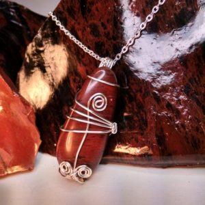 Shop Mahogany Obsidian Necklaces! Mahogany Obsidian Necklace Healing Calming Stone Wire Wrapped Pendant Volcano Jewelry | Natural genuine Mahogany Obsidian necklaces. Buy crystal jewelry, handmade handcrafted artisan jewelry for women.  Unique handmade gift ideas. #jewelry #beadednecklaces #beadedjewelry #gift #shopping #handmadejewelry #fashion #style #product #necklaces #affiliate #ad
