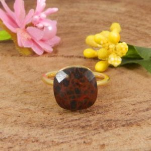 Shop Mahogany Obsidian Rings! Mahogany Obsidian Ring ,925 Sterling Silver Womens Ring, Stackable Rings | Natural genuine Mahogany Obsidian rings, simple unique handcrafted gemstone rings. #rings #jewelry #shopping #gift #handmade #fashion #style #affiliate #ad