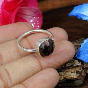 Shop Mahogany Obsidian Rings! Mahogany Obsidian Ring-925 Sterling Silver Ring-Obsidian Ring-Boho Jewelry-Statement Rings-Handmade Rings-Silver Obsidian Ring-Women Rings | Natural genuine Mahogany Obsidian rings, simple unique handcrafted gemstone rings. #rings #jewelry #shopping #gift #handmade #fashion #style #affiliate #ad