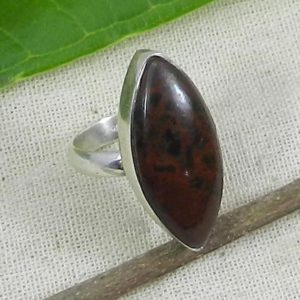 Shop Mahogany Obsidian Rings! Mahogany Obsidian Ring, 925 Sterling Silver Ring, Lower Prices, Handmade Ring, Gift for Her, Unisex Ring, Obsidian Ring, Marquise Ring | Natural genuine Mahogany Obsidian rings, simple unique handcrafted gemstone rings. #rings #jewelry #shopping #gift #handmade #fashion #style #affiliate #ad