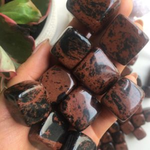 Shop Tumbled Obsidian Crystals & Pocket Stones! Mahogany Obsidian Tumbled stone, Tumbled Mahogany Obsidian, Mahogany Obsidian | Natural genuine stones & crystals in various shapes & sizes. Buy raw cut, tumbled, or polished gemstones for making jewelry or crystal healing energy vibration raising reiki stones. #crystals #gemstones #crystalhealing #crystalsandgemstones #energyhealing #affiliate #ad