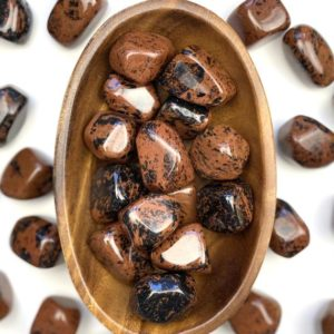Shop Tumbled Mahogany Obsidian Crystals & Pocket Stones! Mahogany Obsidian Tumbled Stone, Red Obsidian Healing Stone, Natural Polished Stone, Meditation Pocket Stone   Natural genuine stones & crystals in various shapes & sizes. Buy raw cut, tumbled, or polished gemstones for making jewelry or crystal healing energy vibration raising reiki stones. #crystals #gemstones #crystalhealing #crystalsandgemstones #energyhealing #affiliate #ad