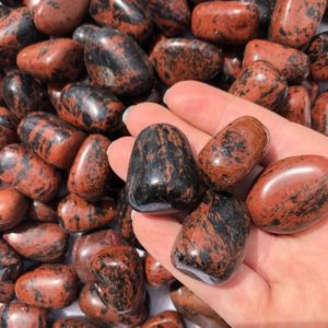 Shop Tumbled Mahogany Obsidian Crystals & Pocket Stones! Mahogany Obsidian Tumbled Stones – listing Is for ONE Stone   Natural genuine stones & crystals in various shapes & sizes. Buy raw cut, tumbled, or polished gemstones for making jewelry or crystal healing energy vibration raising reiki stones. #crystals #gemstones #crystalhealing #crystalsandgemstones #energyhealing #affiliate #ad