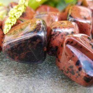 Shop Tumbled Mahogany Obsidian Crystals & Pocket Stones! Mahogany Obsidian Tumbled Stones / Polished Mahogany Obsidian Stones / Tumbled Mahogany Obsidian Stones Sold in Parcels of Five   Natural genuine stones & crystals in various shapes & sizes. Buy raw cut, tumbled, or polished gemstones for making jewelry or crystal healing energy vibration raising reiki stones. #crystals #gemstones #crystalhealing #crystalsandgemstones #energyhealing #affiliate #ad