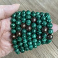 Malachite And Copper Grounding Bracelet Ws6309 | Natural genuine Gemstone jewelry. Buy crystal jewelry, handmade handcrafted artisan jewelry for women.  Unique handmade gift ideas. #jewelry #beadedjewelry #beadedjewelry #gift #shopping #handmadejewelry #fashion #style #product #jewelry #affiliate #ad