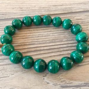 Shop Malachite Jewelry! Natural Green Malachite Anti Anxiety Stone Beaded Bracelet-Stress Relief Negative Energy Protection Healing Meditation Grounding Bracelet | Natural genuine Malachite jewelry. Buy crystal jewelry, handmade handcrafted artisan jewelry for women.  Unique handmade gift ideas. #jewelry #beadedjewelry #beadedjewelry #gift #shopping #handmadejewelry #fashion #style #product #jewelry #affiliate #ad