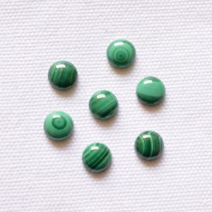 Shop Malachite Cabochons! Malachite Cabochons, Round Cabochon Loose Gemstone, Green Malachite Stone, Gemstone For Jewelry Making, 7 Pieces Lot, 8mm #AR8579 | Natural genuine stones & crystals in various shapes & sizes. Buy raw cut, tumbled, or polished gemstones for making jewelry or crystal healing energy vibration raising reiki stones. #crystals #gemstones #crystalhealing #crystalsandgemstones #energyhealing #affiliate #ad
