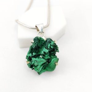 Shop Malachite Pendants! Russian Malachite Druzy Pendant, 925 Sterling Silver, botryoidal Pendant,Raw Stone, Mother's Gift, Anniversary Gift. Free Shipping. | Natural genuine Malachite pendants. Buy crystal jewelry, handmade handcrafted artisan jewelry for women.  Unique handmade gift ideas. #jewelry #beadedpendants #beadedjewelry #gift #shopping #handmadejewelry #fashion #style #product #pendants #affiliate #ad