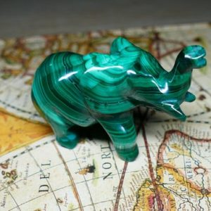 Shop Malachite Shapes! Elephant Figurine Malachite Carving Gemstone Sculpture | Natural genuine stones & crystals in various shapes & sizes. Buy raw cut, tumbled, or polished gemstones for making jewelry or crystal healing energy vibration raising reiki stones. #crystals #gemstones #crystalhealing #crystalsandgemstones #energyhealing #affiliate #ad