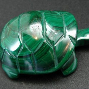 """Shop Malachite Shapes! Rich Vivid Vibrant Green Malachite Turtle Carving From Congo – 2.3"""" 