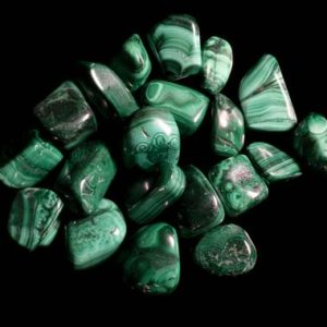 Shop Tumbled Malachite Crystals & Pocket Stones! Malachite Medium Tumbled | Natural genuine stones & crystals in various shapes & sizes. Buy raw cut, tumbled, or polished gemstones for making jewelry or crystal healing energy vibration raising reiki stones. #crystals #gemstones #crystalhealing #crystalsandgemstones #energyhealing #affiliate #ad