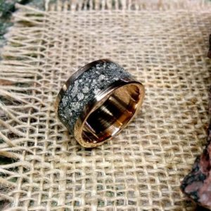 Shop Pyrite Jewelry! Mens Pyrite Ring Band. 2.5mm Thickness.8, 10, 12  13,  15mm Wide Choice. Copper, Aluminum,Bronze, Titanium. | Natural genuine Pyrite jewelry. Buy handcrafted artisan men's jewelry, gifts for men.  Unique handmade mens fashion accessories. #jewelry #beadedjewelry #beadedjewelry #shopping #gift #handmadejewelry #jewelry #affiliate #ad