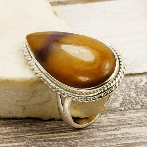 Shop Mookaite Jewelry! Large Australian Mookaite Ring & .925 Sterling Silver Ring Size 8 , U442 The Silver Plaza | Natural genuine Mookaite jewelry. Buy crystal jewelry, handmade handcrafted artisan jewelry for women.  Unique handmade gift ideas. #jewelry #beadedjewelry #beadedjewelry #gift #shopping #handmadejewelry #fashion #style #product #jewelry #affiliate #ad