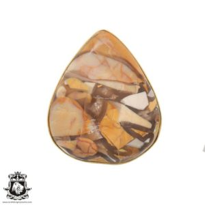 Shop Mookaite Jasper Rings! Size 8.5 – Size 10 Adjustable Brecciated Mookaite 24K Gold Plated Ring GPR699 | Natural genuine Mookaite Jasper rings, simple unique handcrafted gemstone rings. #rings #jewelry #shopping #gift #handmade #fashion #style #affiliate #ad