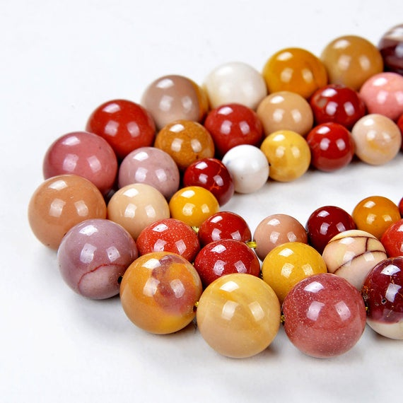 Sale Price + Free Usa Ship Genuine Natural Mookaite Round Shape 4mm 6mm 8mm 10mm 12mm Grade Aa