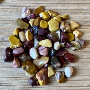 Shop Mookaite Jasper Stones & Crystals! Mookaite Tumbled Chips Gift Bag jewelry making crafts crafting roller ball | Natural genuine stones & crystals in various shapes & sizes. Buy raw cut, tumbled, or polished gemstones for making jewelry or crystal healing energy vibration raising reiki stones. #crystals #gemstones #crystalhealing #crystalsandgemstones #energyhealing #affiliate #ad