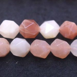 Shop Moonstone Chip & Nugget Beads! Natural Faceted Multicolor Moonstone Nugget Beads, moonstone Beads, 6mm 8mm 10mm 12mm Natural Star Cut Faceted Moonstone Beads, one Strand 15"