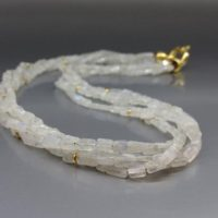 Layered Necklace / collier Moonstone With Gold – Gift For Her – Bridal And Wedding Jewelry-white, Blue Shining, Gold Gemstone June Birthstone | Natural genuine Gemstone jewelry. Buy handcrafted artisan wedding jewelry.  Unique handmade bridal jewelry gift ideas. #jewelry #beadedjewelry #gift #crystaljewelry #shopping #handmadejewelry #wedding #bridal #jewelry #affiliate #ad