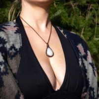 Natural Moonstone Pendant Necklace For Her – Handmade Moonstone Gemstone Jewelry – Copper Wire Wrap Jewelry | Natural genuine Gemstone jewelry. Buy crystal jewelry, handmade handcrafted artisan jewelry for women.  Unique handmade gift ideas. #jewelry #beadedjewelry #beadedjewelry #gift #shopping #handmadejewelry #fashion #style #product #jewelry #affiliate #ad
