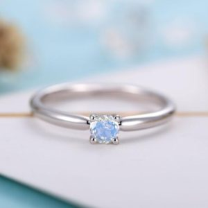 Shop Moonstone Engagement Rings! Moonstone Engagement ring white gold women | Solitaire Bridal ring | Unique wedding jewelry | Vintage promise ring anniversary gift for her | Natural genuine Moonstone rings, simple unique alternative gemstone engagement rings. #rings #jewelry #bridal #wedding #jewelryaccessories #engagementrings #weddingideas #affiliate #ad