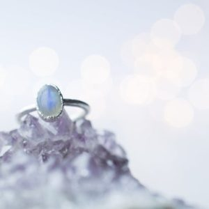Silver Moonstone ring | June Birthstone Ring | Moonstone stacking ring | Birthstone jewelry | Organic stone jewelry | Natural genuine Gemstone rings, simple unique handcrafted gemstone rings. #rings #jewelry #shopping #gift #handmade #fashion #style #affiliate #ad