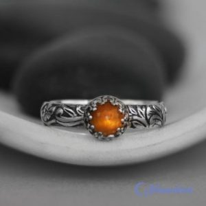 Yellow Stone Ring, Sterling Silver Ring, Gold Moonstone Ring, Rose Cut Engagement Ring, Flower Promise Ring | Moonkist Designs | Natural genuine Gemstone rings, simple unique alternative gemstone engagement rings. #rings #jewelry #bridal #wedding #jewelryaccessories #engagementrings #weddingideas #affiliate #ad