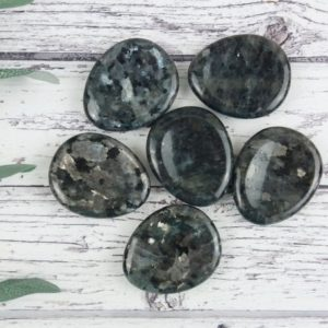 Shop Moonstone Shapes! Larvikite Thumb Stone, Reiki Infused Norwegian Moonstone Worry Stone Palm Stones | Natural genuine stones & crystals in various shapes & sizes. Buy raw cut, tumbled, or polished gemstones for making jewelry or crystal healing energy vibration raising reiki stones. #crystals #gemstones #crystalhealing #crystalsandgemstones #energyhealing #affiliate #ad