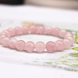 Shop Morganite Bracelets! Natural Aaa Pink Morganite Beads Bracelet, pink Morganite Beaded Bracelet, jewelry Gift Bracelet, wholesale Bracelet, bulk Bracelet Supply | Natural genuine Morganite bracelets. Buy crystal jewelry, handmade handcrafted artisan jewelry for women.  Unique handmade gift ideas. #jewelry #beadedbracelets #beadedjewelry #gift #shopping #handmadejewelry #fashion #style #product #bracelets #affiliate #ad