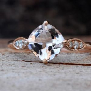 Alternative engagement ring-Morganite ring-Promise ring-Cushion Cut Morganite Ring-Halo Cushion Ring-Gold Solitaire Ring-Alternative rings | Natural genuine Gemstone rings, simple unique alternative gemstone engagement rings. #rings #jewelry #bridal #wedding #jewelryaccessories #engagementrings #weddingideas #affiliate #ad