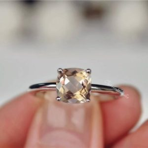 Solid 14K Gold Natural Morganite Ring Cushion Morganite Engagement Ring Wedding Ring Promise Ring Anniversary Ring | Natural genuine Array rings, simple unique alternative gemstone engagement rings. #rings #jewelry #bridal #wedding #jewelryaccessories #engagementrings #weddingideas #affiliate #ad