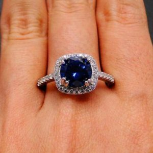Natural AAA Tanzanite ring ,Sterling Silver ring,Round cut tanzanite ring 7 mm,Tanzanite Engagement Ring,bridal ring,wedding ring | Natural genuine Array rings, simple unique alternative gemstone engagement rings. #rings #jewelry #bridal #wedding #jewelryaccessories #engagementrings #weddingideas #affiliate #ad
