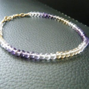Natural ametrine bracelet with 14k gold fill Genuine ametrine jewelry Crystal healing Gemstone bracelet Luxury ametrine Gift for her | Natural genuine Gemstone bracelets. Buy crystal jewelry, handmade handcrafted artisan jewelry for women.  Unique handmade gift ideas. #jewelry #beadedbracelets #beadedjewelry #gift #shopping #handmadejewelry #fashion #style #product #bracelets #affiliate #ad