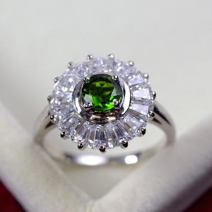 Shop Diopside Rings! Natural diopside ring, sterling silver, chrome diopside ring, green gemstone rings, jewelry, N93 | Natural genuine Diopside rings, simple unique handcrafted gemstone rings. #rings #jewelry #shopping #gift #handmade #fashion #style #affiliate #ad