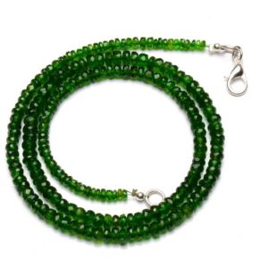 Shop Diopside Necklaces! natural gemstone chrome diopside necklace, faceted rondelle beads, 3 to 5mm size, 17 inch full strand | Natural genuine Diopside necklaces. Buy crystal jewelry, handmade handcrafted artisan jewelry for women.  Unique handmade gift ideas. #jewelry #beadednecklaces #beadedjewelry #gift #shopping #handmadejewelry #fashion #style #product #necklaces #affiliate #ad