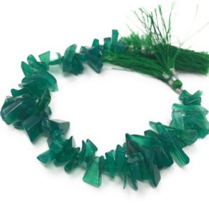 """Shop Onyx Chip & Nugget Beads! Natural Green Onyx Beads – Rough Polished , Gemstone Beads, Wholesale Beads, Bulk Beads, Jewelry Making for Jewelry Supplies, 8"""" Strand 