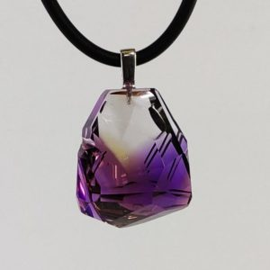 Shop Ametrine Pendants! Natural Handmade Ametrine Pendant 96.50 carats with Argentium-Silver 935 Bail   Natural genuine Ametrine pendants. Buy crystal jewelry, handmade handcrafted artisan jewelry for women.  Unique handmade gift ideas. #jewelry #beadedpendants #beadedjewelry #gift #shopping #handmadejewelry #fashion #style #product #pendants #affiliate #ad