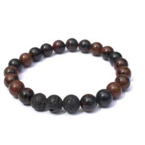 Shop Mahogany Obsidian Bracelets! Natural Mahogany Obsidian Bracelet w/ Lava Beads   Natural genuine Mahogany Obsidian bracelets. Buy crystal jewelry, handmade handcrafted artisan jewelry for women.  Unique handmade gift ideas. #jewelry #beadedbracelets #beadedjewelry #gift #shopping #handmadejewelry #fashion #style #product #bracelets #affiliate #ad