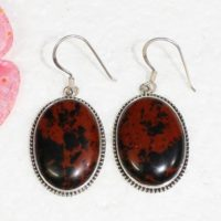 Natural Mahogany Obsidian Gemstone Studded In Solid 925 Sterling Silver Earrings, Handmade Dangle Earrings, October Birthstone   Natural genuine Gemstone jewelry. Buy crystal jewelry, handmade handcrafted artisan jewelry for women.  Unique handmade gift ideas. #jewelry #beadedjewelry #beadedjewelry #gift #shopping #handmadejewelry #fashion #style #product #jewelry #affiliate #ad
