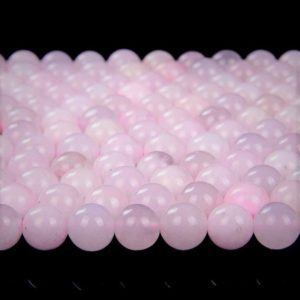 Natural Pink Mangano Calcite Rare Gemstone Grade AAA  Smooth 6mm 8mm 10mm Round Loose Beads (A214) | Natural genuine beads Pink Calcite beads for beading and jewelry making.  #jewelry #beads #beadedjewelry #diyjewelry #jewelrymaking #beadstore #beading #affiliate #ad