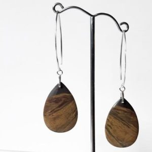 Shop Tiger Iron Earrings! Natural tiger iron teardrop gemstones with sterling silver bails and v-shaped ear wires | Natural genuine Tiger Iron earrings. Buy crystal jewelry, handmade handcrafted artisan jewelry for women.  Unique handmade gift ideas. #jewelry #beadedearrings #beadedjewelry #gift #shopping #handmadejewelry #fashion #style #product #earrings #affiliate #ad