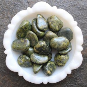 Shop Tumbled Jade Crystals & Pocket Stones! Nephrite Jade -Tumbled Stone- Chakra Stone – Meditation Crystal | Natural genuine stones & crystals in various shapes & sizes. Buy raw cut, tumbled, or polished gemstones for making jewelry or crystal healing energy vibration raising reiki stones. #crystals #gemstones #crystalhealing #crystalsandgemstones #energyhealing #affiliate #ad