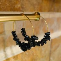 Obsidian Earrings | Natural genuine Gemstone jewelry. Buy crystal jewelry, handmade handcrafted artisan jewelry for women.  Unique handmade gift ideas. #jewelry #beadedjewelry #beadedjewelry #gift #shopping #handmadejewelry #fashion #style #product #jewelry #affiliate #ad